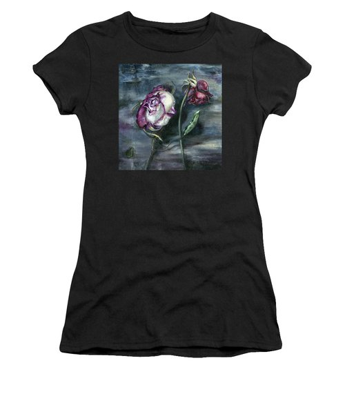Roses Never Die Women's T-Shirt (Athletic Fit)