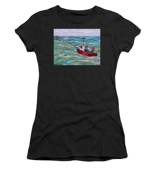 Rough Sea Women's T-Shirt (Athletic Fit)