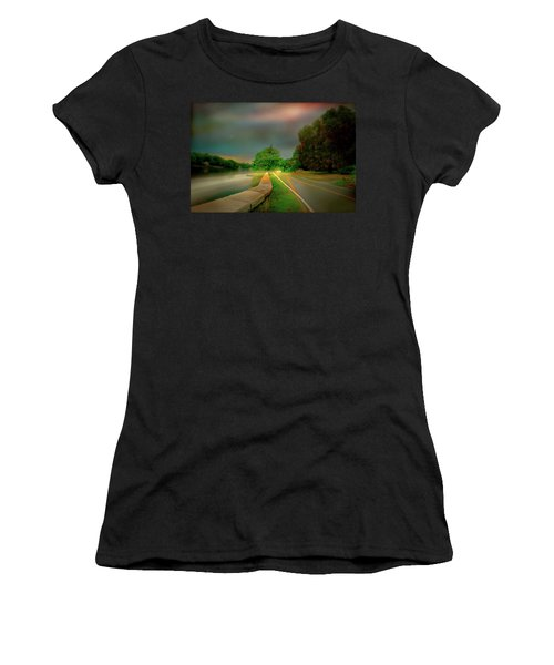 Women's T-Shirt (Junior Cut) featuring the photograph Round The Bend by Diana Angstadt