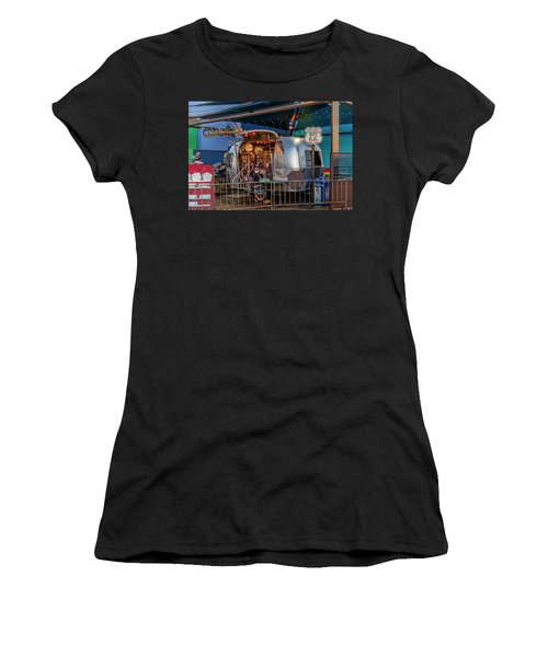Route 66 And Airstream On Tha Pier Women's T-Shirt