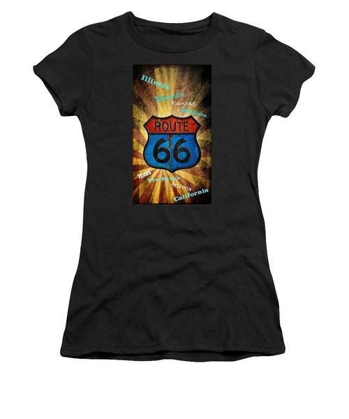 Route 66 Women's T-Shirt (Athletic Fit)