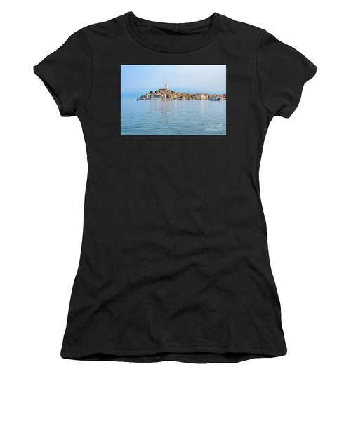 Rovinj In The Early Morning Fog, Istria, Croatia Women's T-Shirt