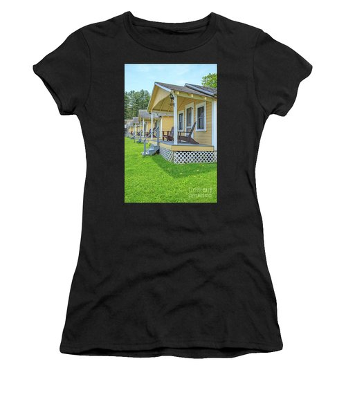 Row Of Vintage Yellow Rental Cottages Women's T-Shirt