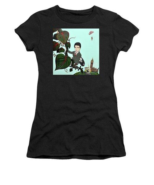 Rowan Atkinson Mr Beanstalk Women's T-Shirt (Athletic Fit)