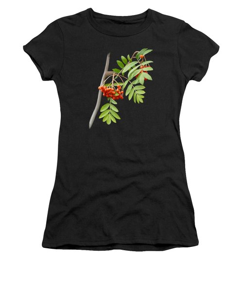 Women's T-Shirt featuring the painting Rowan Tree by Ivana Westin