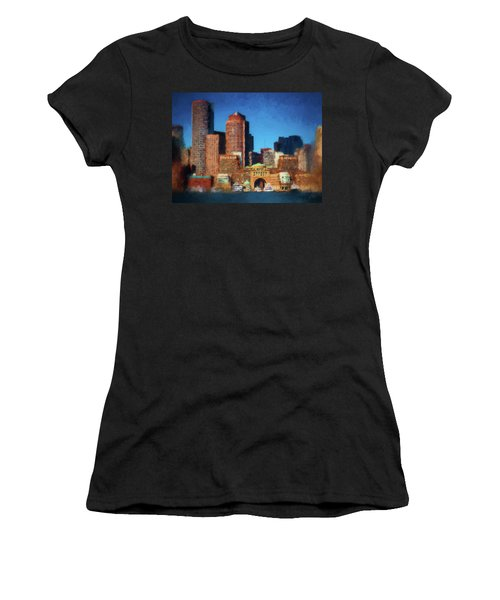 Rowes Wharf Boston Women's T-Shirt (Athletic Fit)
