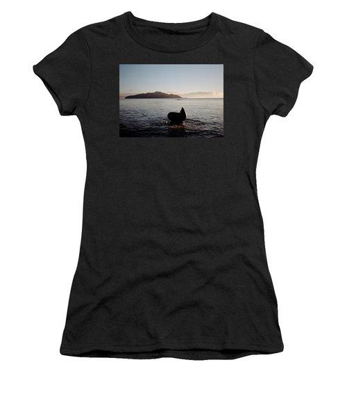 Rowing Off Sausalito, Ca Women's T-Shirt