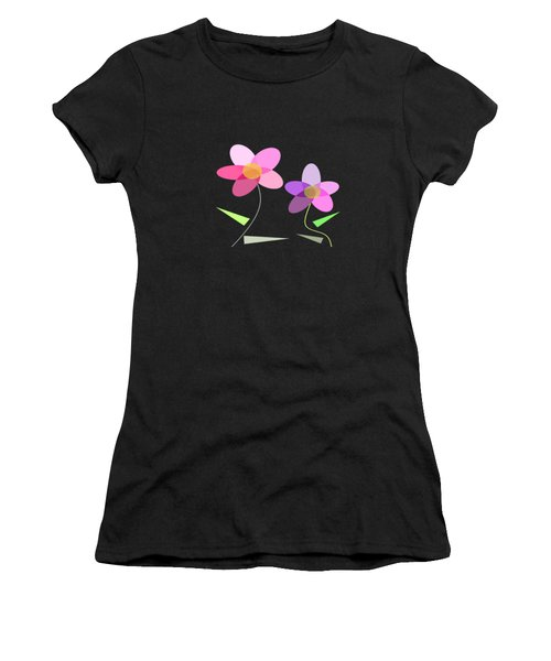 Rows Of Flowers Women's T-Shirt (Athletic Fit)