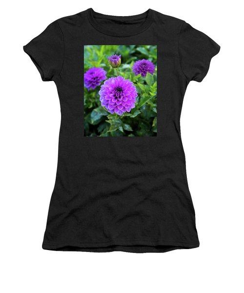 Royal Dahlia Delight Women's T-Shirt (Athletic Fit)