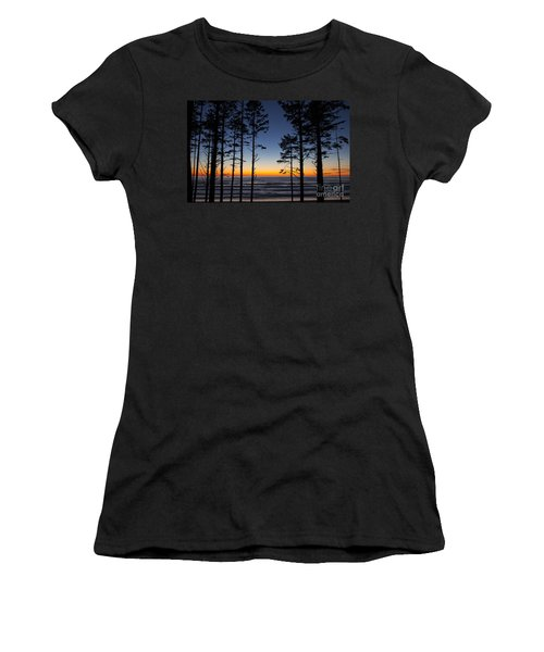 Ruby Beach Trees #4 Women's T-Shirt (Athletic Fit)