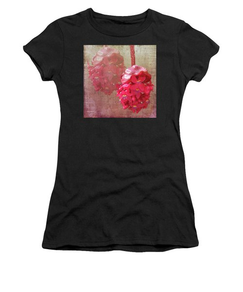 Ruby Colored Orchid Women's T-Shirt (Athletic Fit)