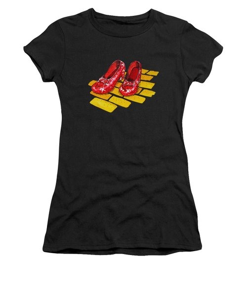 Ruby Slippers The Wonderful Wizard Of Oz Women's T-Shirt