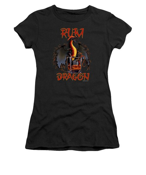 Rum Dragon Women's T-Shirt (Athletic Fit)
