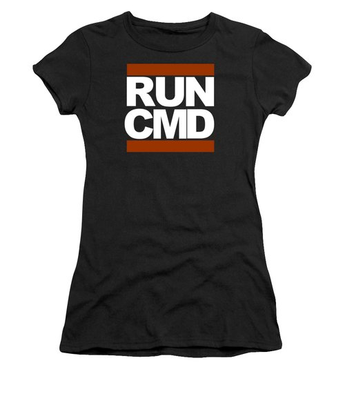 Women's T-Shirt featuring the photograph Run Cmd by Darryl Dalton