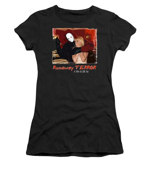 Runaway Terror 1 - Black Women's T-Shirt (Junior Cut) by Mark Baranowski