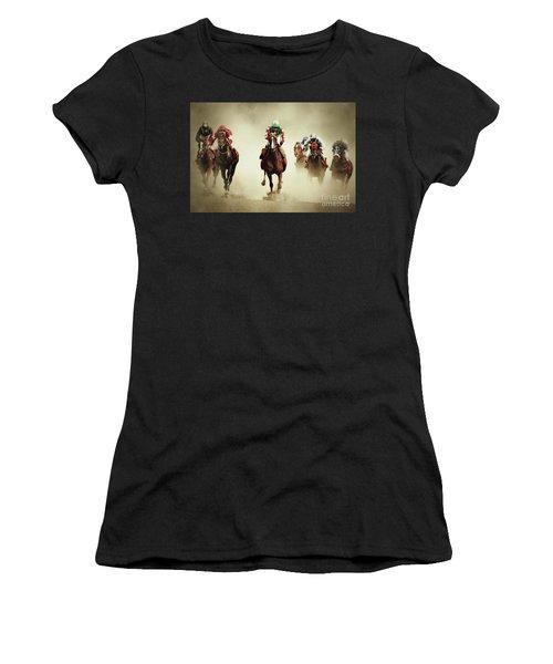 Running Horses In Dust Women's T-Shirt
