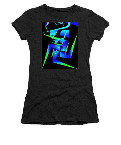 Running Man Women's T-Shirt (Athletic Fit)