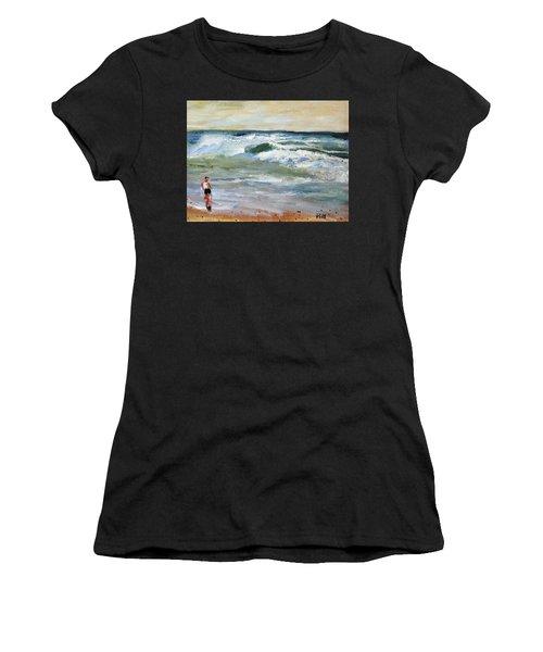 Running The Beach Women's T-Shirt
