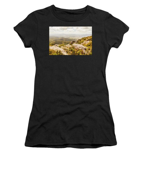 Rural Town Valley Women's T-Shirt (Athletic Fit)