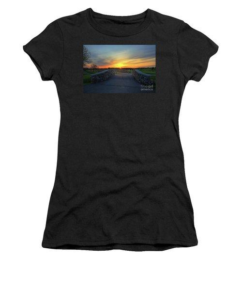 Rush Creek Golf Course The Bridge To Sunset Women's T-Shirt