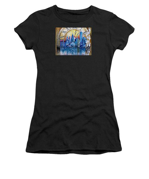 Rush Hour In New York  Women's T-Shirt (Athletic Fit)
