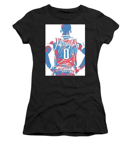 Russell Westbrook Oklahoma City Thunder Pixel Art 16 Women's T-Shirt