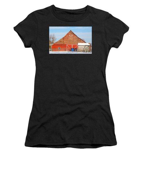 Rustic Barn In Idaho Women's T-Shirt (Athletic Fit)