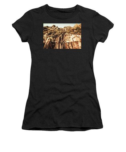 Rustic Cliff Spring Women's T-Shirt