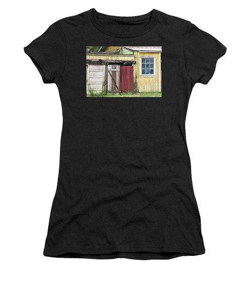 Rustic Shed Panorama Women's T-Shirt