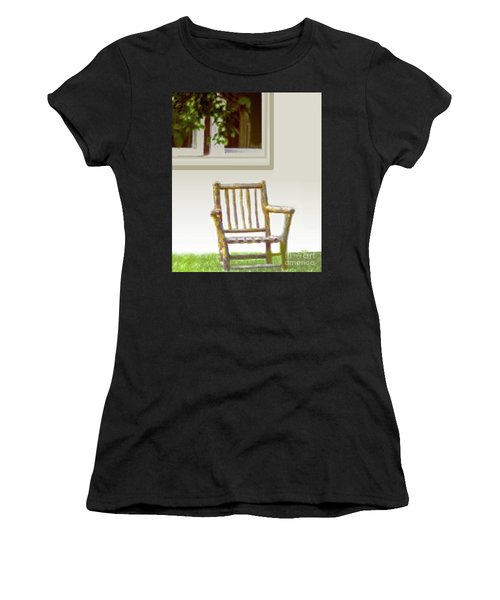 Rustic Wooden Rocking Chair Women's T-Shirt