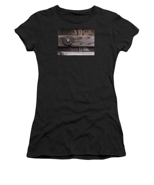 Rustic Yoga Women's T-Shirt (Athletic Fit)