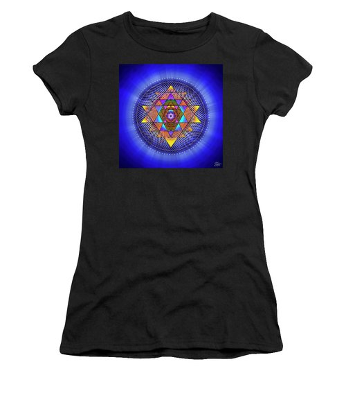 Women's T-Shirt (Athletic Fit) featuring the digital art Sacred Geometry 705 by Endre Balogh