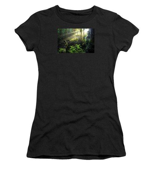 Sacred Light Women's T-Shirt (Junior Cut) by Chad Dutson