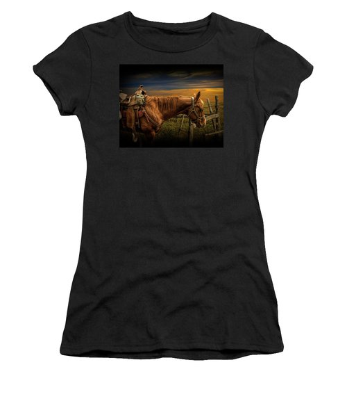 Saddle Horse On The Prairie Women's T-Shirt