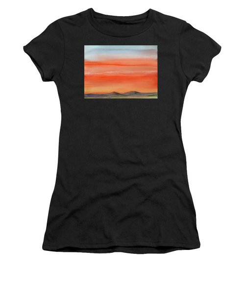Saffron On The Mountains Women's T-Shirt (Athletic Fit)