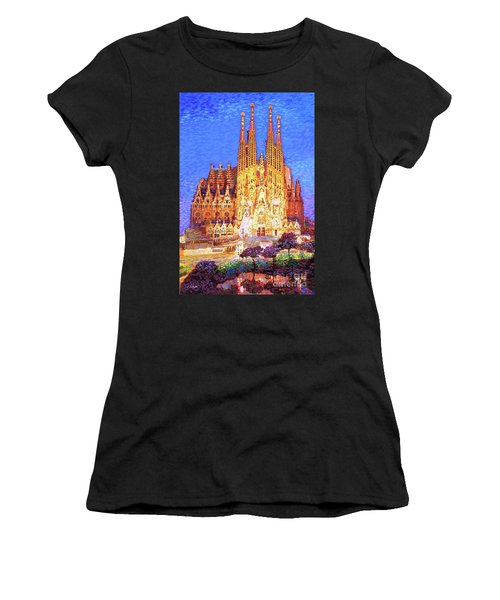 Sagrada Familia At Night Women's T-Shirt