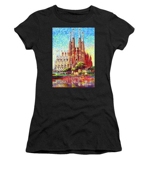 Sagrada Familia Women's T-Shirt (Athletic Fit)