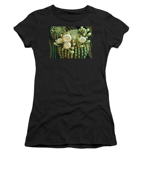 Saguaro Cactus Blossoms Women's T-Shirt (Athletic Fit)