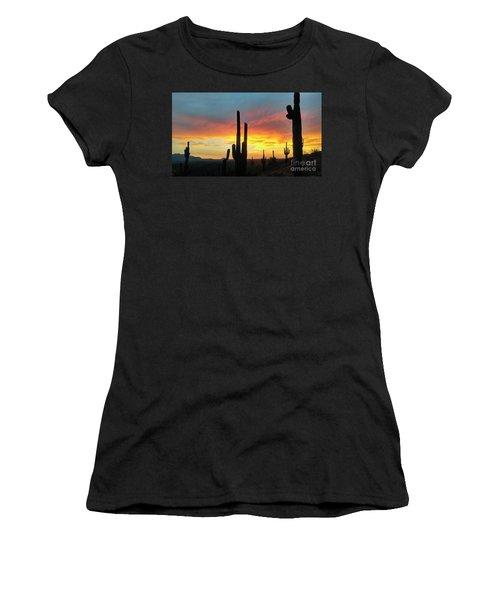 Saguaro Sunset Women's T-Shirt (Athletic Fit)