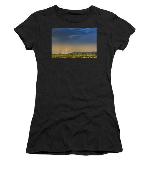 Saguaro With Lightning Women's T-Shirt