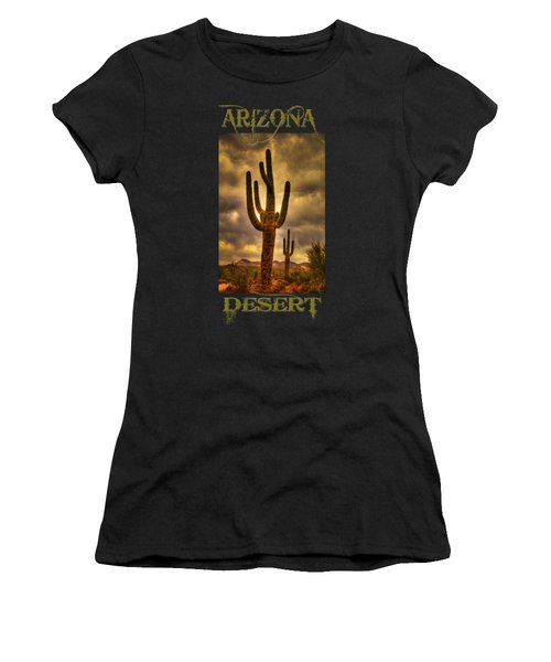 Saguaros On The Sonoran Late Afternoon Women's T-Shirt