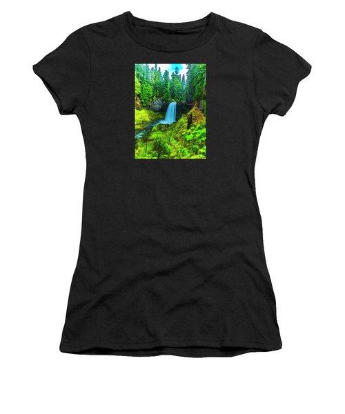 Koosa Falls, Oregon Women's T-Shirt (Athletic Fit)
