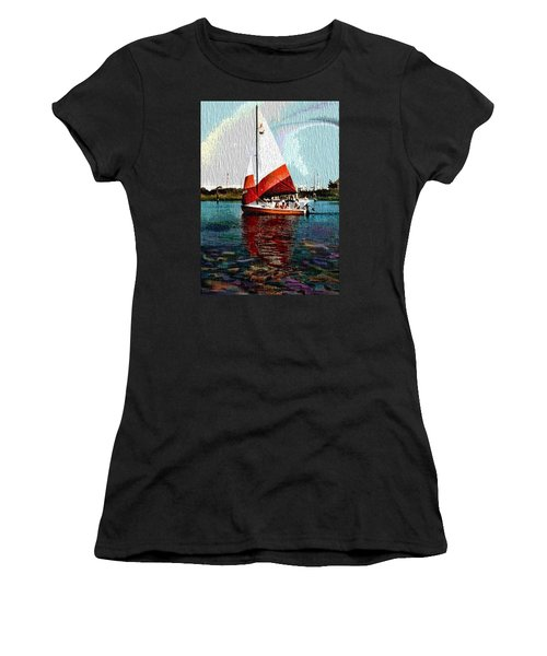 Sail Along On The Sea Women's T-Shirt (Athletic Fit)