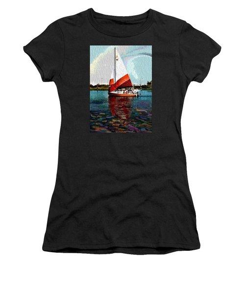 Sail Along On The Sea Women's T-Shirt (Junior Cut)