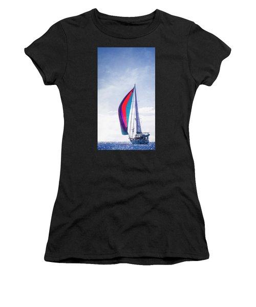 Women's T-Shirt featuring the photograph Sail Away by Scott Kemper