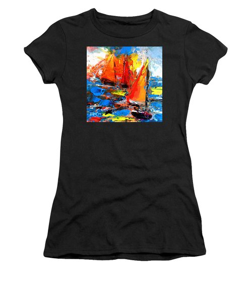 Sail Into The Sunset Women's T-Shirt (Athletic Fit)