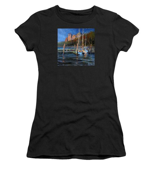 Sailboats At Dusk, Hudson River Women's T-Shirt (Athletic Fit)