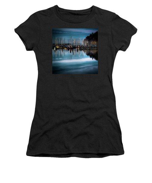 Sailboats At Sunset Women's T-Shirt (Junior Cut) by David Patterson