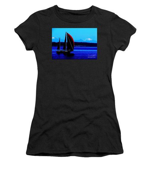 Sailing At Port Townsend Washington State Women's T-Shirt (Athletic Fit)
