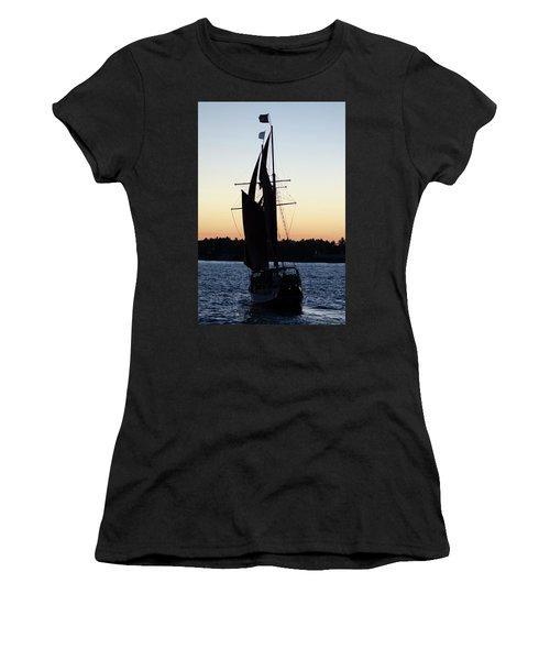 Sailing At Sunset Women's T-Shirt